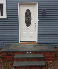 Brick Steps with bluestone oval