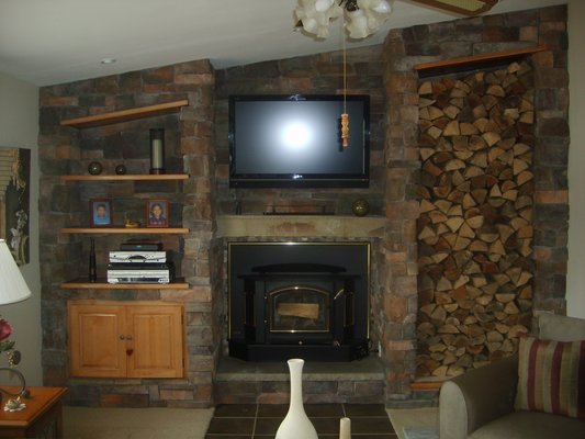Custom Stone Fireplace