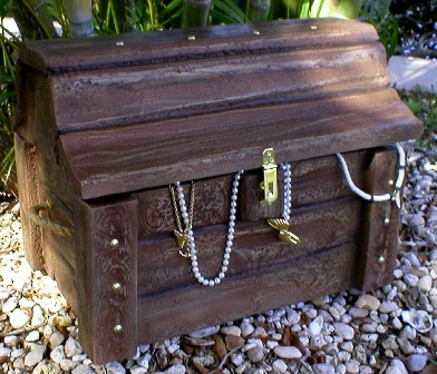 Faux Treasure Chest
