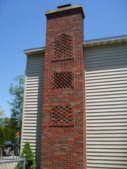 Custom Brick Chimney