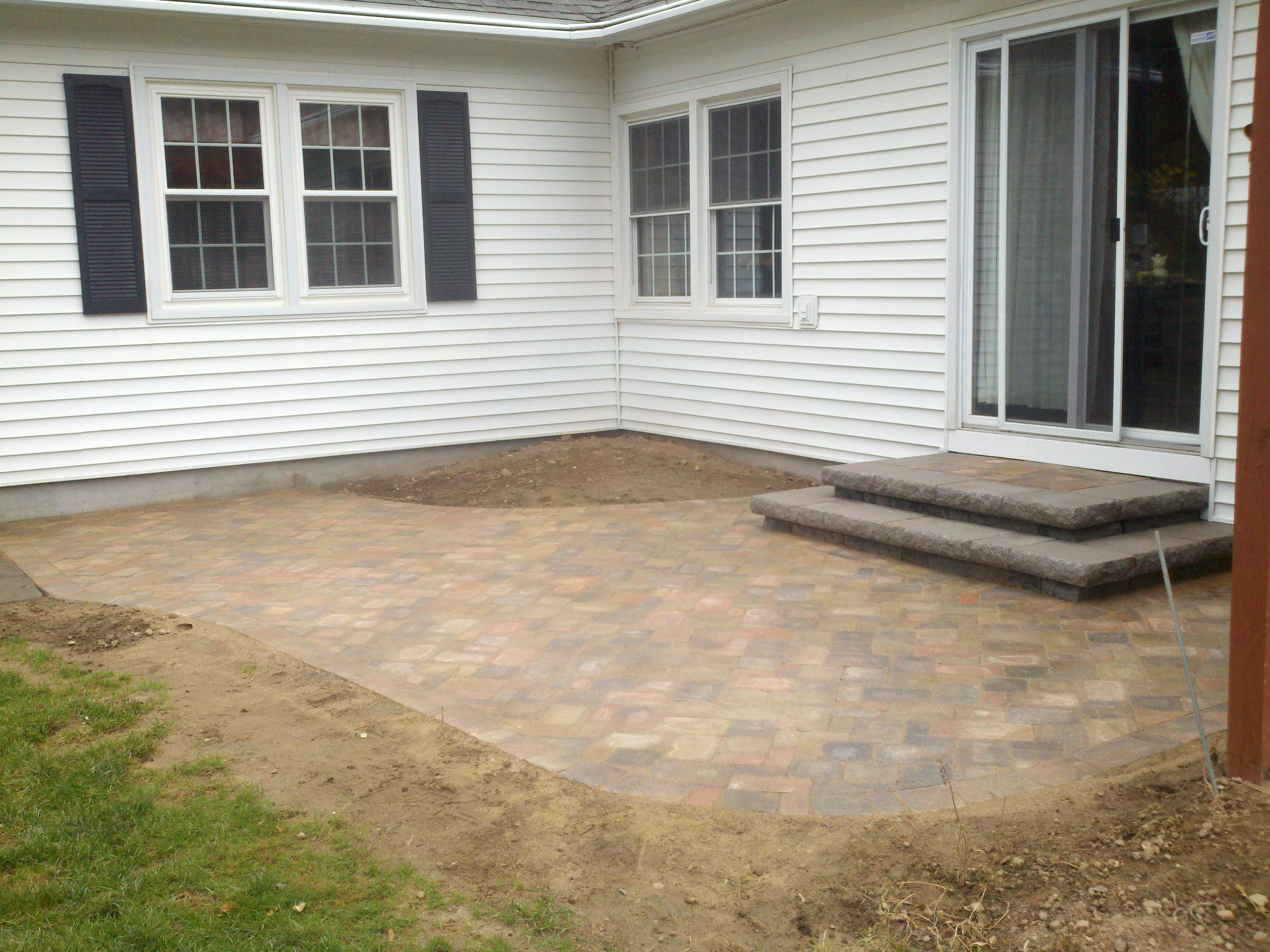 Paver Patio with Steps