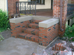 Brick Steps with concrete coping