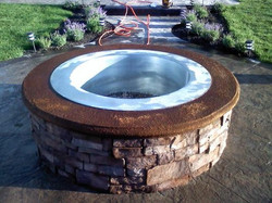 Custom Fire Pit with Steel Insert