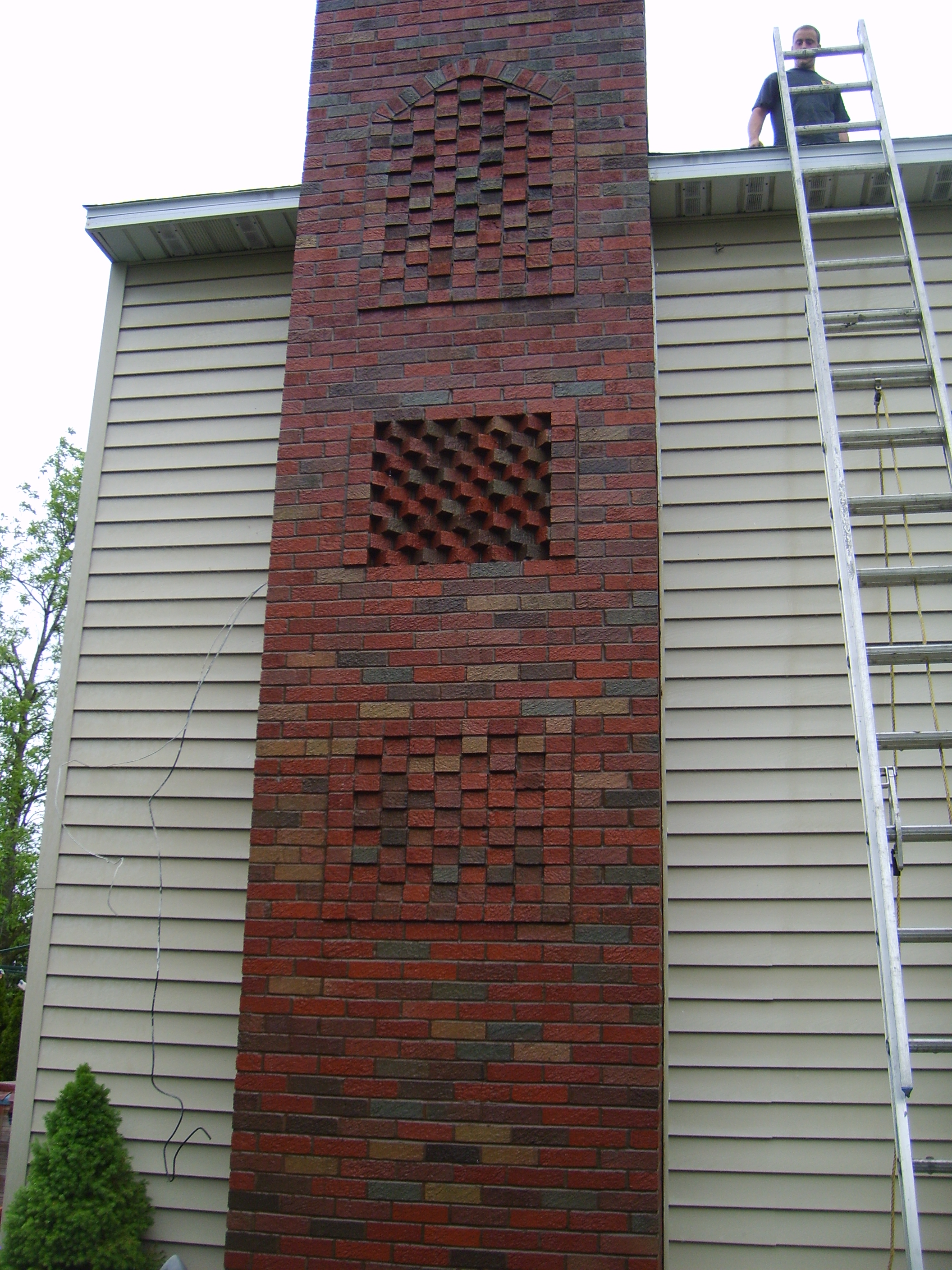 Decorative Brick Chimney