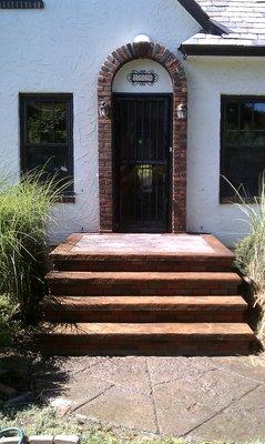 Brick Steps & Stampcrete