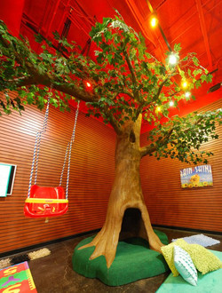 Faux Tree with Swing