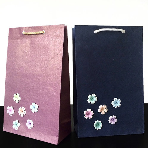 Mini Multicolored Flowers - Gift Bags (Set of 2)