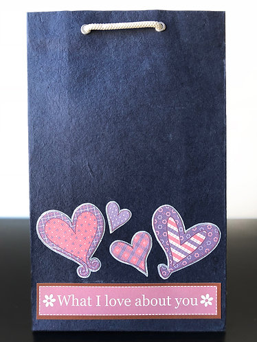What I Love About You Gift Bags (Set of 2)