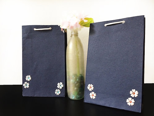 Mini Fabric Flowers - Gift Bags (Set of 2)