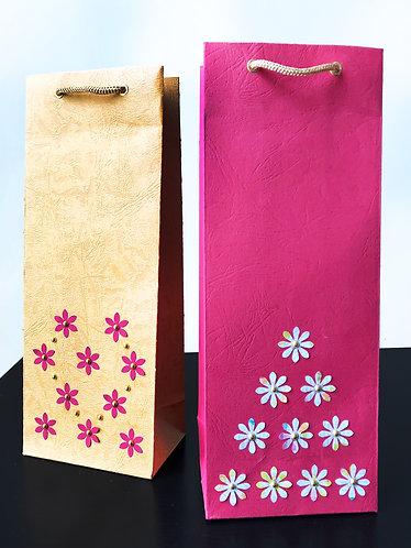 Mini Flowers Wine Bags (Set of 2)