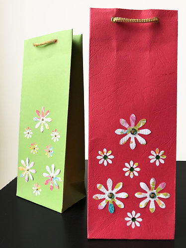 Flowery Wine Bags (Set of 2)