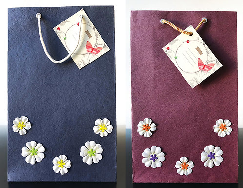 White + Color Flowers - Gift Bags (Set of 2)