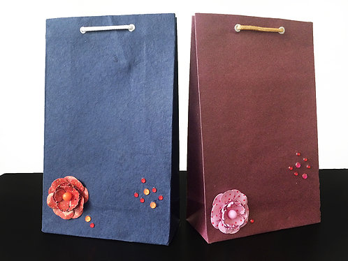 Flower with beads - Gift Bags (Set of 2)