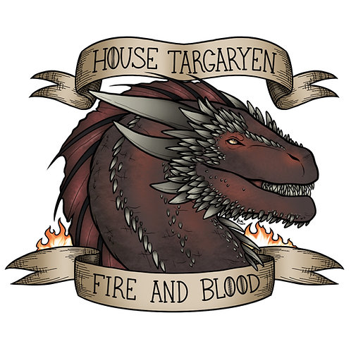 Game of Thrones - House Targaryen Sticker
