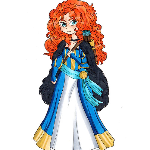 Disney - Merida Redesign Print