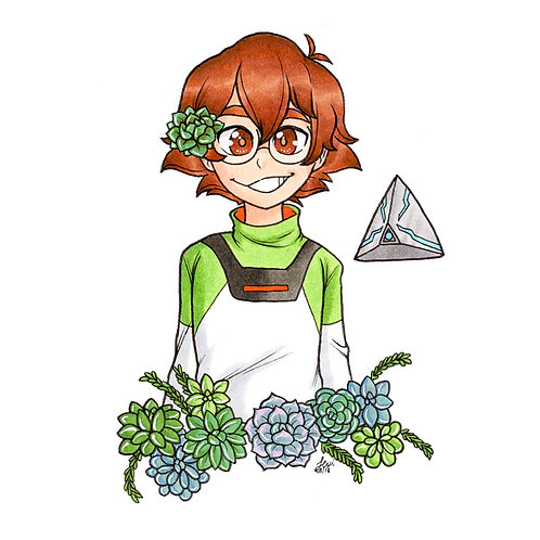 Voltron - Pidge Flower Print