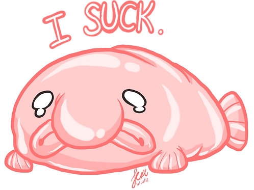Animals - Blobfish Sticker