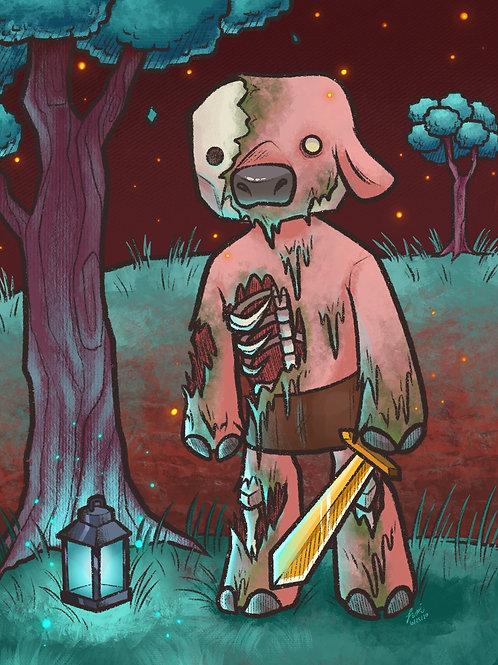 Minecraft - Zombie Piglin Print