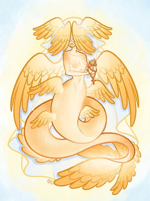Angelic Mermaid Print