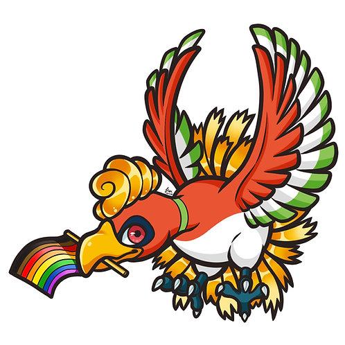 Pokemon - Gay Pride Ho-Oh Sticker
