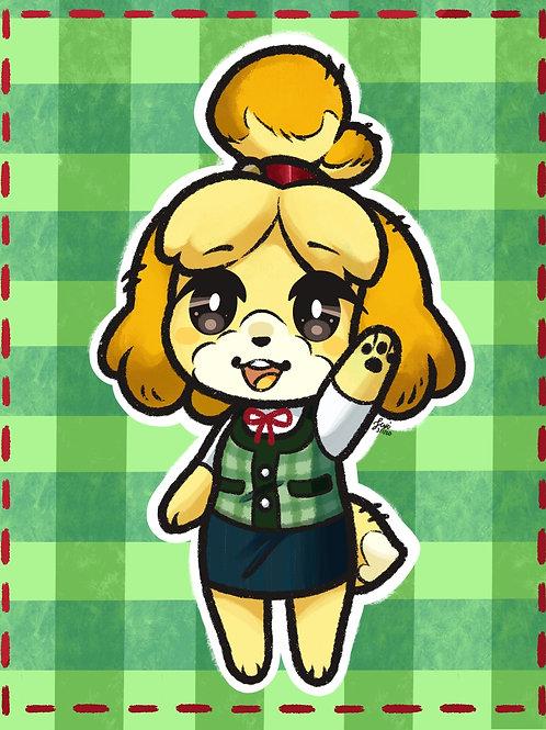 Animal Crossing - Isabella Print