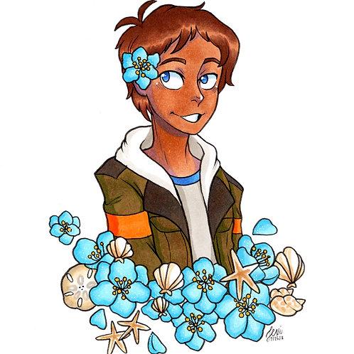 Voltron - Lance Flower Print