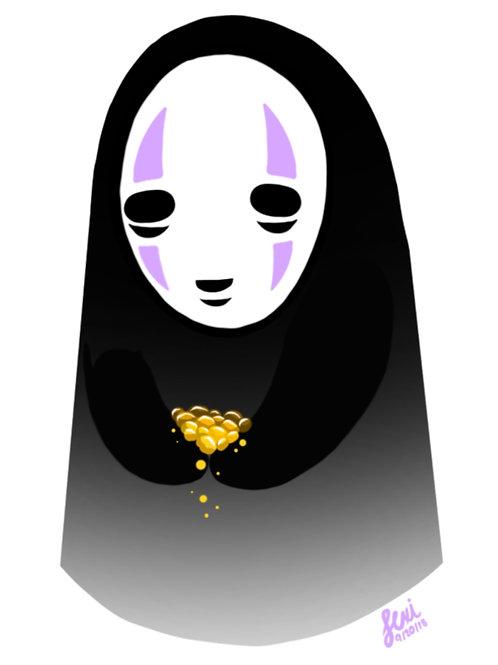 Studio Ghibli - No Face Sticker
