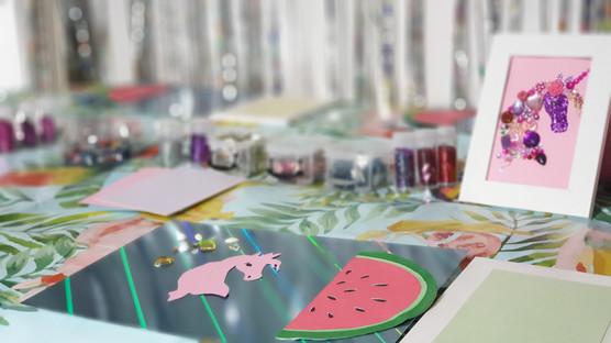 Kinderfeestje Glitter paard maken