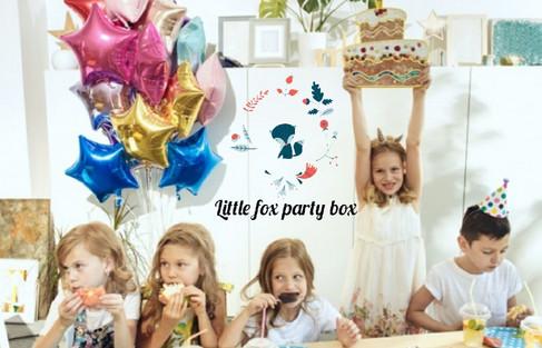 kinderfeestje Little fox party box