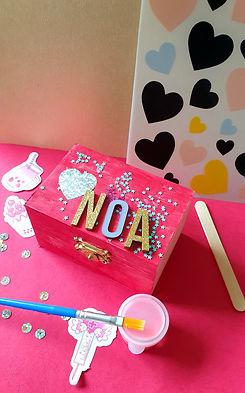 Kinderfeestje schatkist knutselen