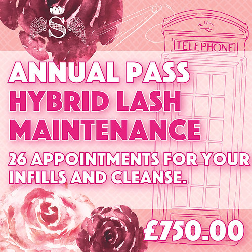 Annual Pass Hybrid Lash Infill & Cleanse (2 weekly)