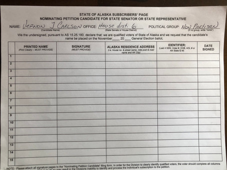 Collecting Signatures for Nominating Petition Candidate for State Representative