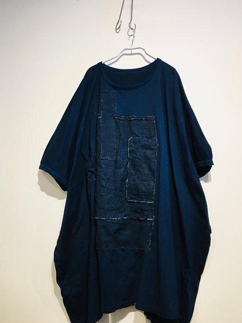 陽オリジナル BT-D022  ビッグTシャツワンピース・藍染