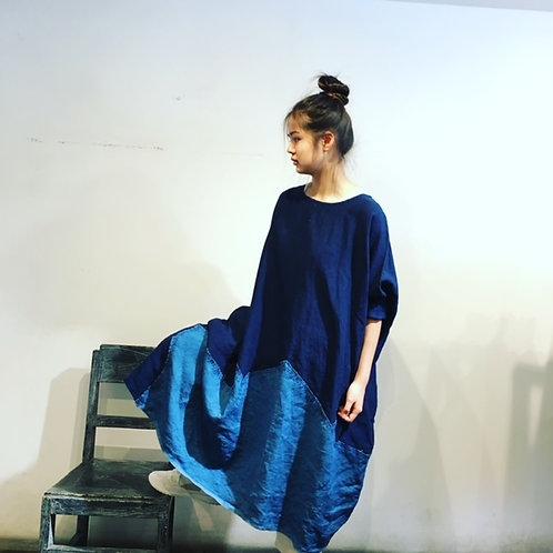 陽オリジナル  藍染ワンピース