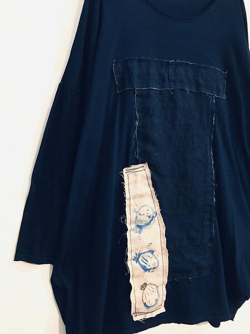 陽オリジナル BT103    藍染長袖カットソー