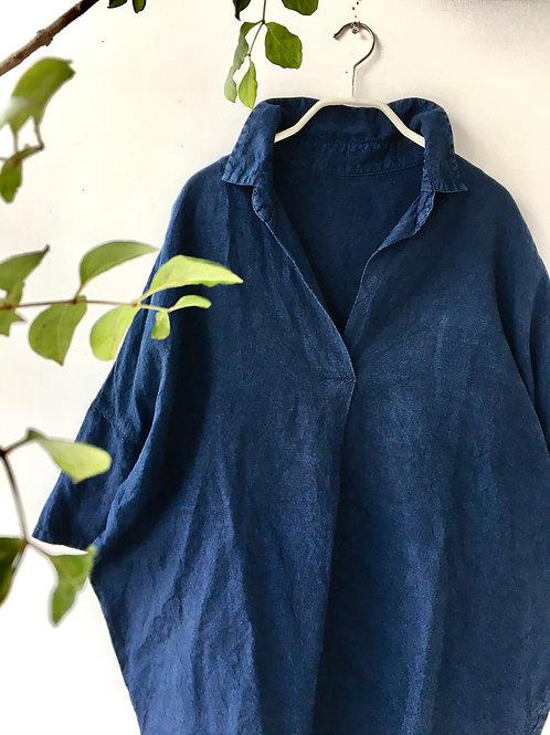高城染工 RV-7008  スキッパーシャツ・藍染