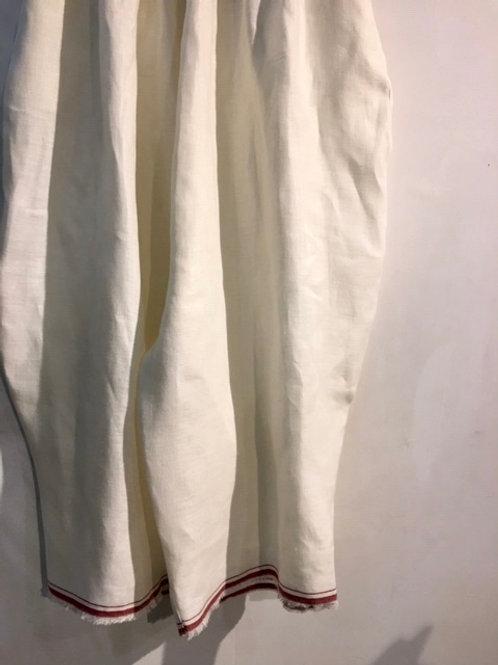 赤ライン白麻パンツ