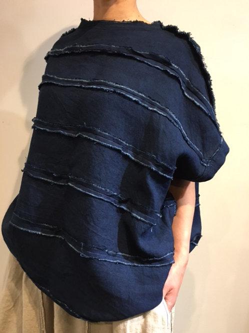 陽オリジナル   BB621 リネンプルオーバー・藍染