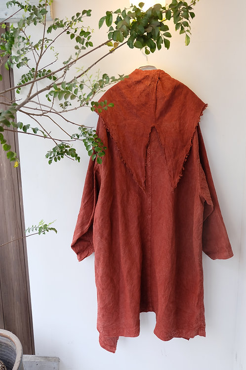 陽オリジナル ベンガラ染コート