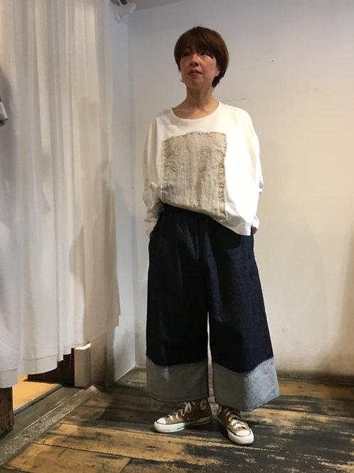 陽オリジナル パッチワーク長袖カットソー