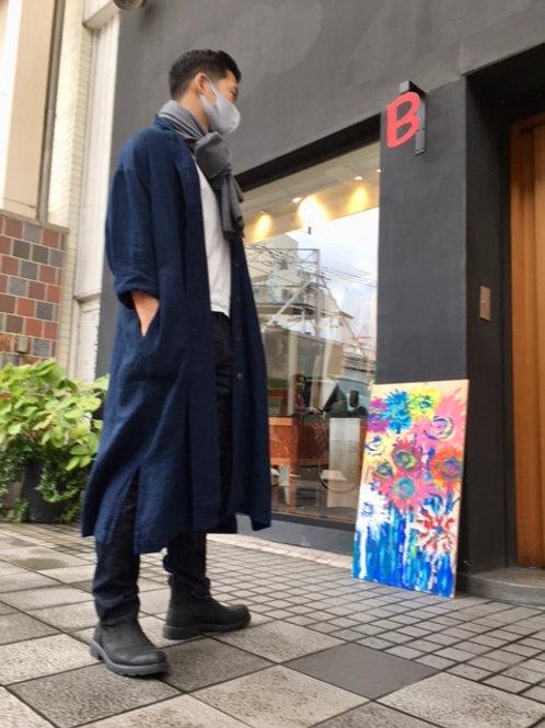 BC104A 藍染コート15号