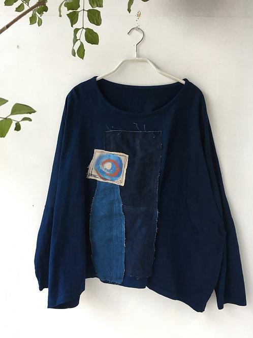 陽オリジナル BT211 長袖藍染Tシャツ