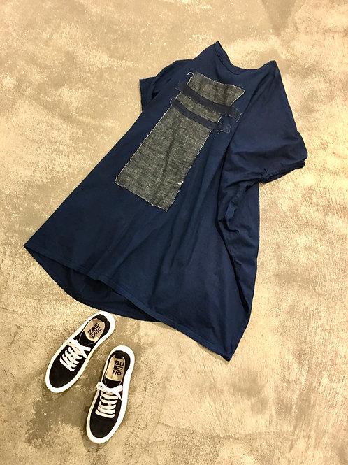 陽オリジナル  BT- D022    Tシャツワンピース・藍染