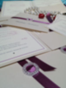 Bespoke wedding invitations handmade London
