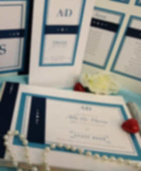 Handmade bespoke wallet wedding invitation London