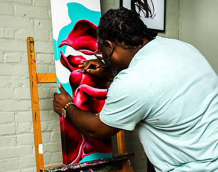 Photo of Andre Rochester Painting