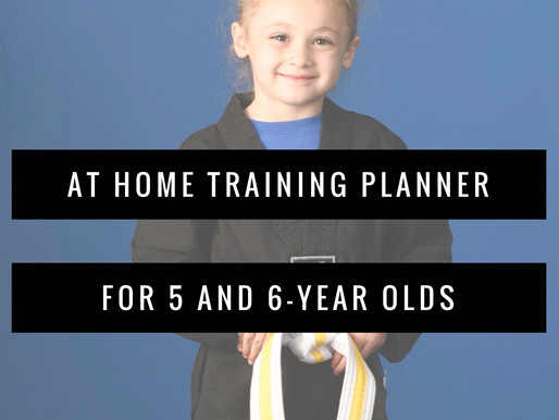 At Home Training Planner:  5 - 6 Year Old's