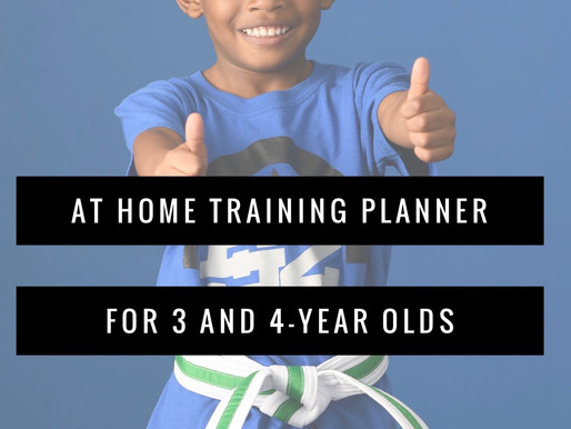 At Home Training Planner:  3 - 4 Year Old's