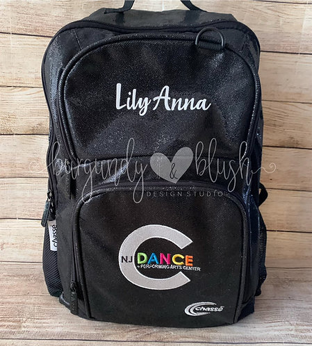 Embroidered All Out Glitter Backpack