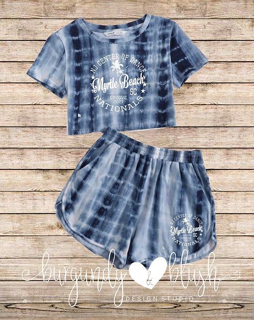 Tie Dye Cropped T-Shirt & Shorts Set